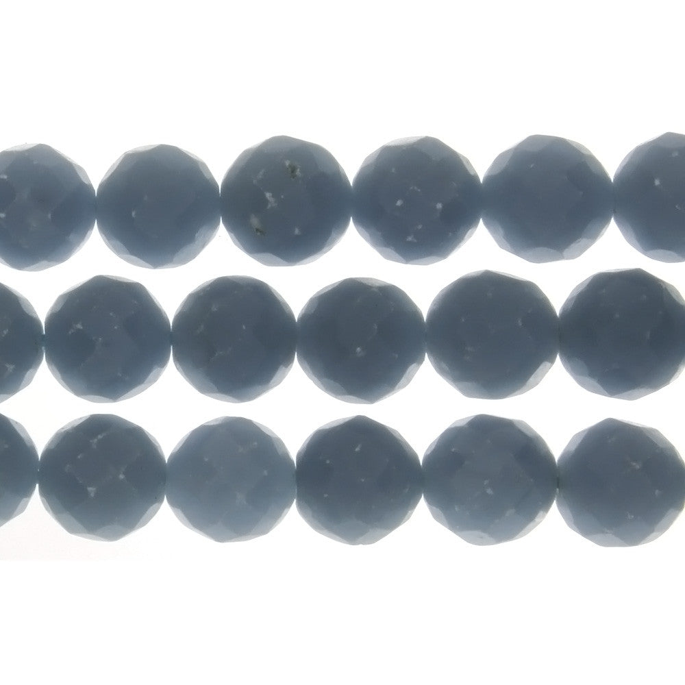 ANGELITE ROUND FACETED 12 MM STRAND