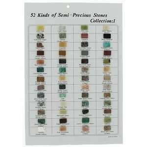 CUT GEMSTONE COLLECTION RECTANGLE 10 X 14 MM (52 PCS)