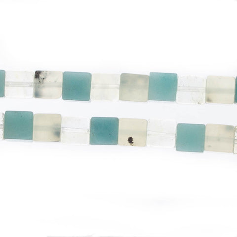 AMAZONITE & PREHNITE 6mm Cube