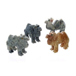 ANIMAL CAMEL SOAPSTONE CARVING (3)