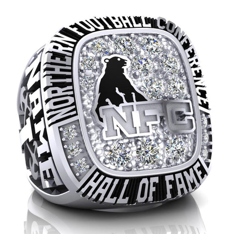 NFC Hall of Fame Ottawa Invaders Ring (Champs Ice)