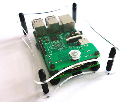 Open Case for RemotePi Board for Pi 3 B+, Pi 3, Pi 2 and B+