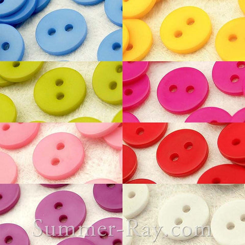11mm (2 eye) Doll Buttons