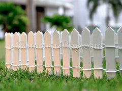 Miniature Fence - in the back garden