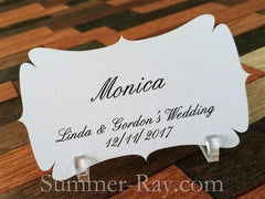Personalized Elegant Place Card with Acrylic Holders