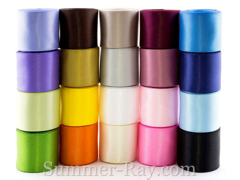 Double Sided Satin Ribbons 25 mm - 40 yards