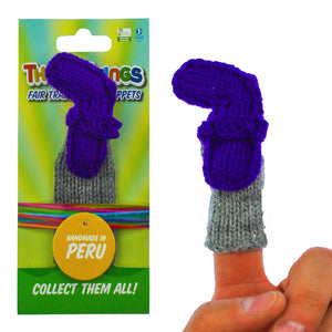 """number seven"" finger puppet, handmade, fair trade, eco-friendly"