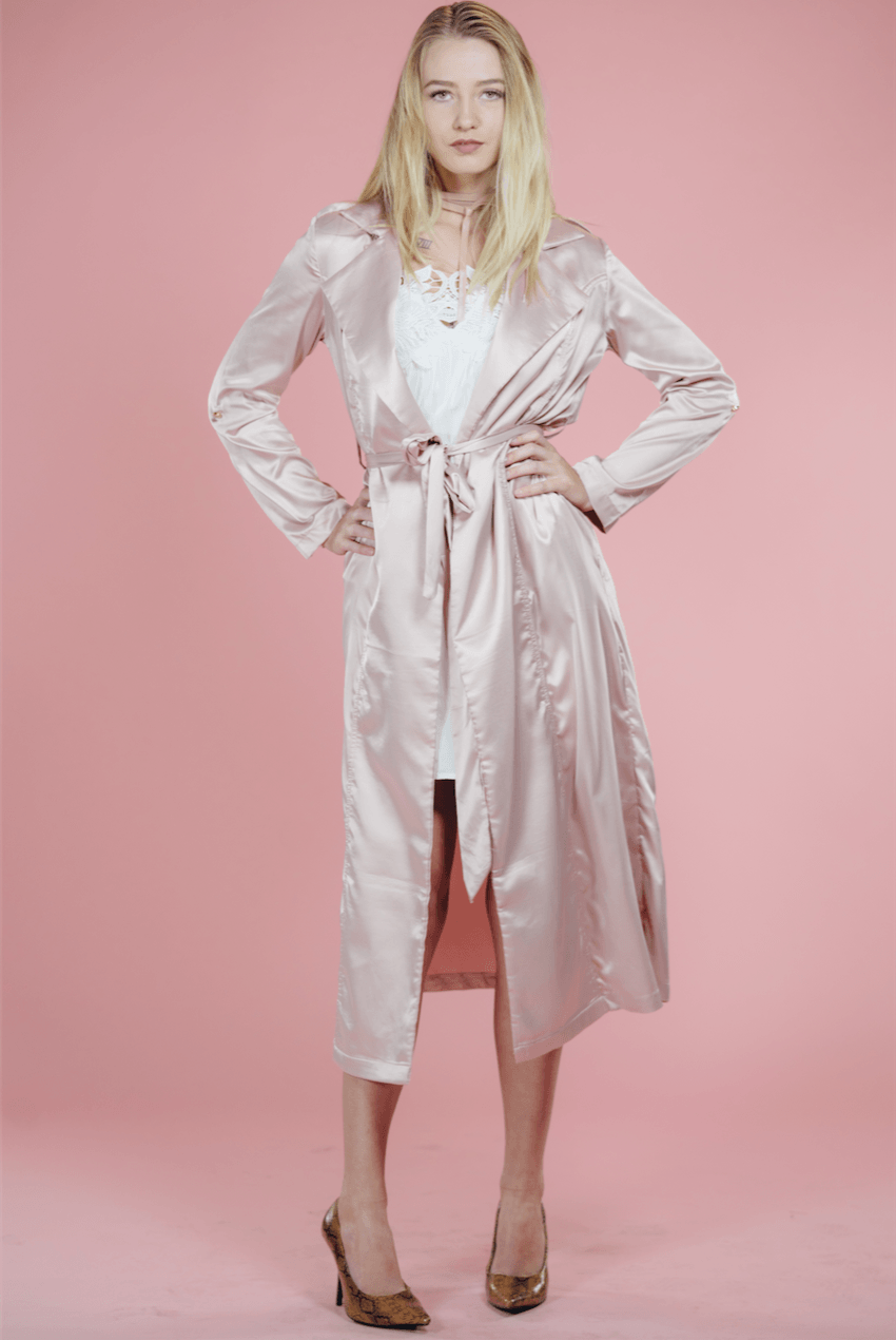 Stella Satin Duster,Outerwear
