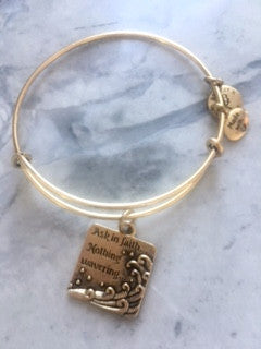 "2017 YW Theme ""Ask in Faith"" Expandable Bracelet - Gold"