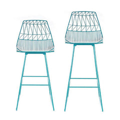 Bend Lucy Bar Stool and Counter Stool Peacock Blue