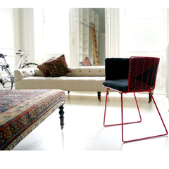 Bend Captain Chair Red with Full Cushion in NY apartment