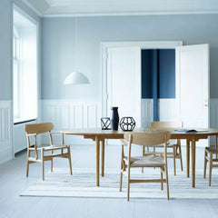 Wegner CH339 Dining Table with CH26 Dining Chairs in Oak Carl Hansen and Son