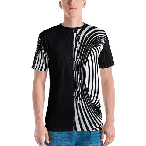 """Multistability"" Men's Cut & Sew T by Parker Hi"