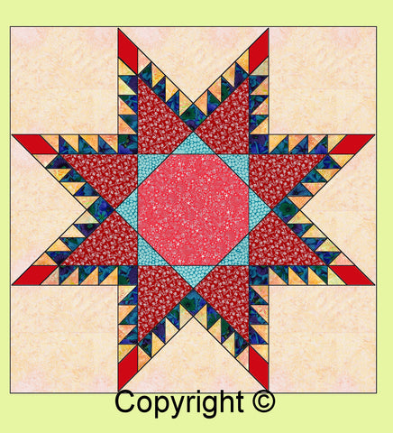 "Octagon (for Feathered Star 6972a) - 9"" across- 6592b - mat included"