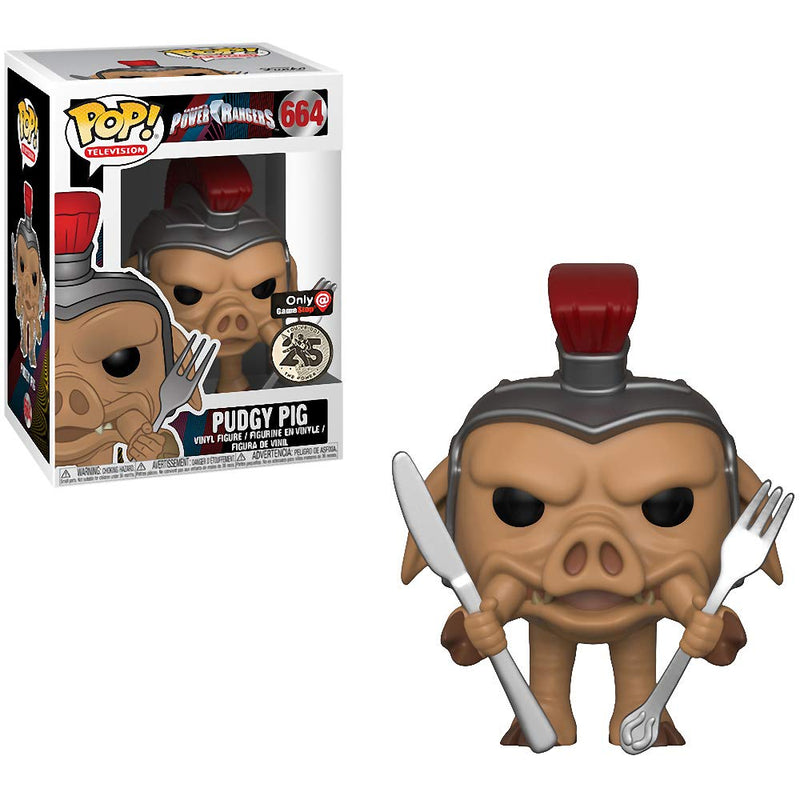 Power Rangers Pudgy Pig GameStop Exclusive Pop! Vinyl Figure #664
