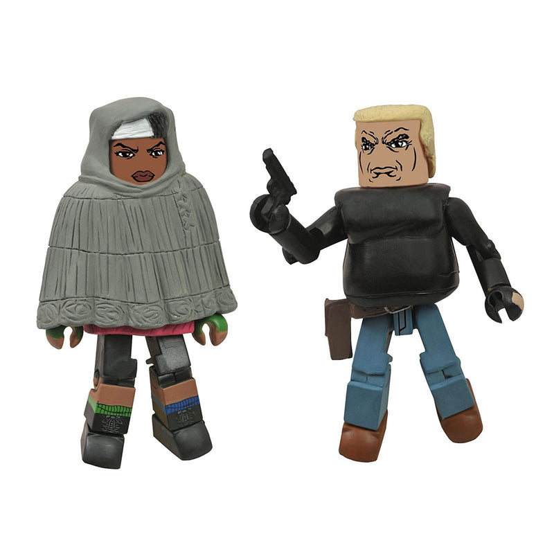 The Walking Dead Hooded Michonne and Gabe Minimates
