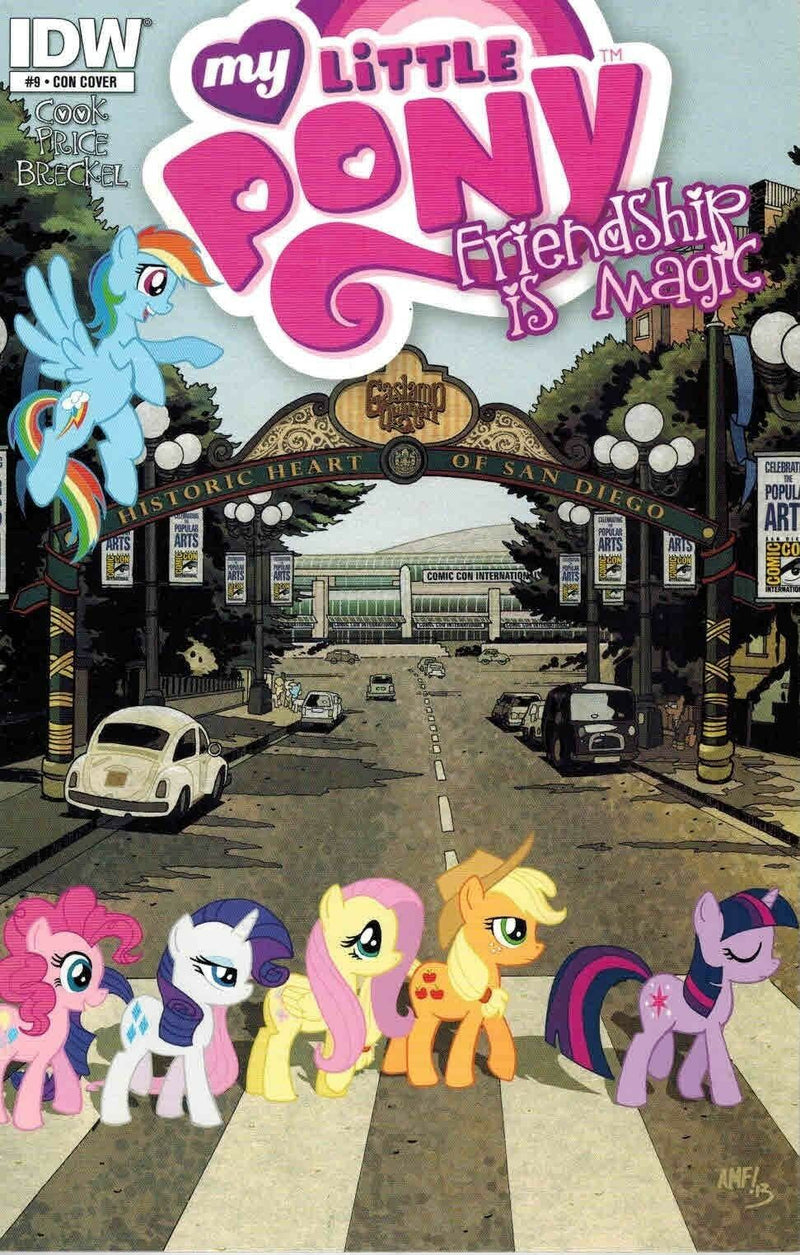 SDCC 2013 Con Cover Variant Exclusive My Little Pony Friendship is Magic #9 Comic Book
