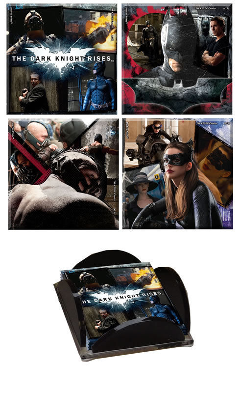 2012 SDCC Exclusive Dark Knight Rises Glass Coaster Set LE 50