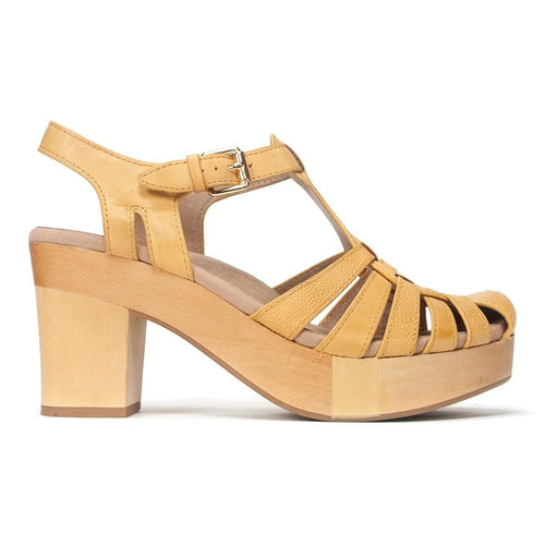 Earth Brand Women's Cerris Leather Sling Back High-Heel Sandal Shoe