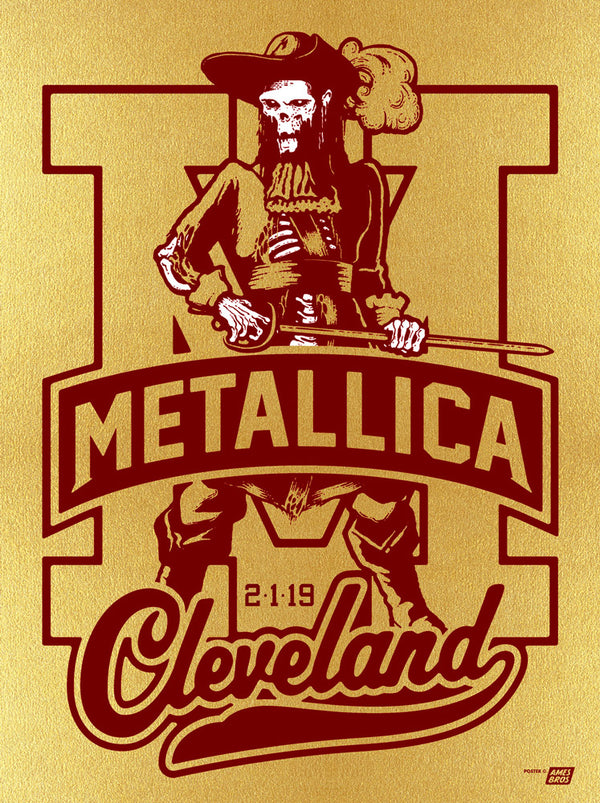 Metallica 2019 Cleveland, OH Quicken Loans Arena Poster - Variant 1A - Cleveland '70 Poster Edition of 35