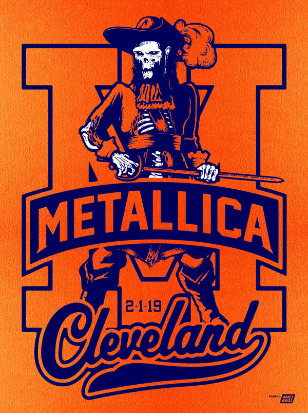Metallica 2019 Cleveland, OH Quicken Loans Arena Poster - Variant 1B - Cleveland '83 Edition of 35
