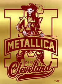 Metallica 2019 Cleveland, OH Quicken Loans Arena Poster - Variant 2A - Cleveland Super '70 Poster Edition of 15