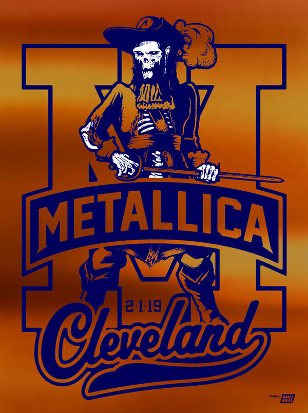Metallica 2019 Cleveland, OH Quicken Loans Arena Poster - Variant 2B - Cleveland Super '83 Poster Edition of 15