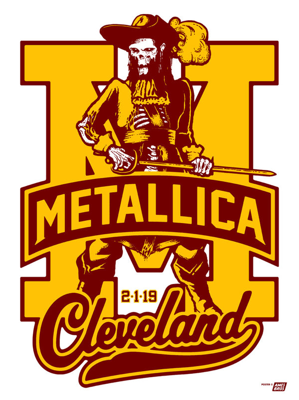 Metallica 2019 Cleveland, OH Quicken Loans Arena Poster - Tour Edition of 70