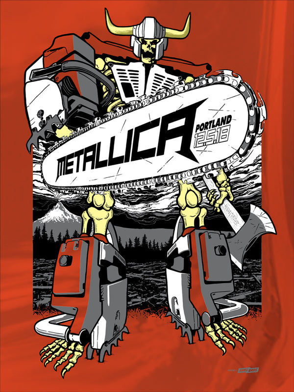 Metallica 2018 Portland, OR Poster - Slash Crew Edition