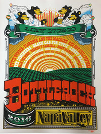 BottleRock 2016 Napa Valley, CA Festival Poster 1 - Ivory Edition