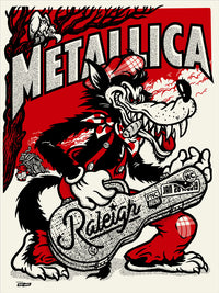 Metallica 2019 Raleigh, NC PNC Arena Poster - Tour Edition of 70