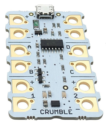 Crumble Microcontroller - for STEM Learning using Croc Clips and Visual Software