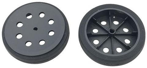 Single 47mm Black Wheels for N20 Metal Gear Motors