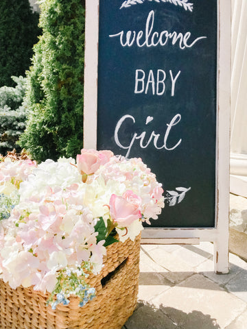 girl baby shower ideas entryway