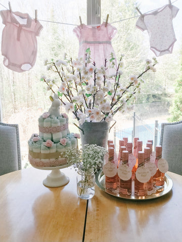 Girl baby shower in spring easter