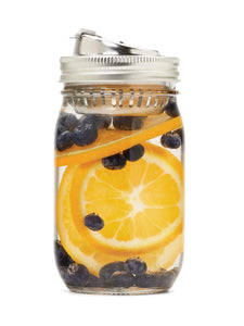 Stainless Steel Mason Jar Adapter - 2-in-1 Drink Lid