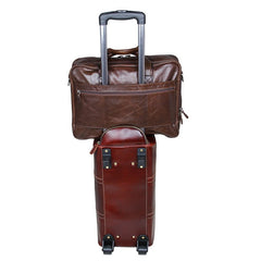 Brown Suitcase Attachment Bag|Atodiad Teithio Brown