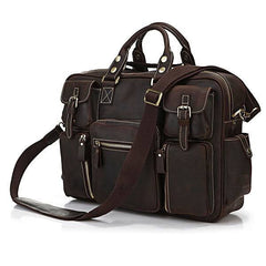Espresso Leather Travel Pack|Bag Teithio Lledr Espresso
