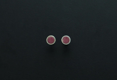 Rhodonite Stud Earrings