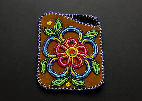 Cardholder – Blue and Red Flower