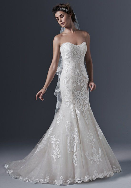 Sottero and Midgley 'Lovai' size 8 used wedding dress front view on model