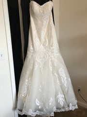 Sottero and Midgley 'Lovai' size 8 used wedding dress front view on hanger