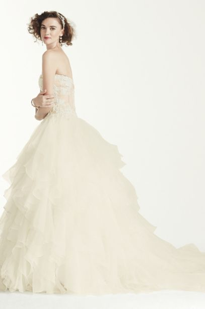 Oleg Cassini 'Strapless Corset Ball Gown' - Oleg Cassini - Nearly Newlywed Bridal Boutique - 5