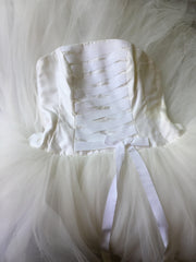 Richard Glasgow 'Tulle' size 8 used wedding dress front view close up