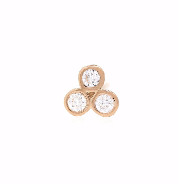 Trio Diamond Studs - Rose Gold