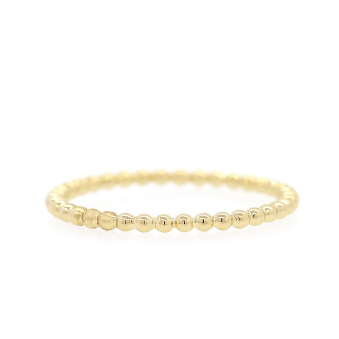 Gold Bead Band- Yellow Gold