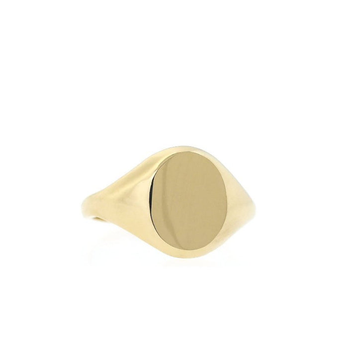 Oval Gold Pinky Ring