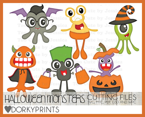 Halloween Monsters Cuttable Files
