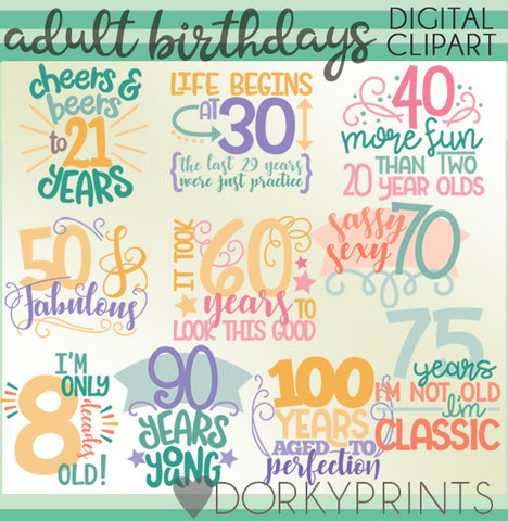 Decades Birthday Clipart