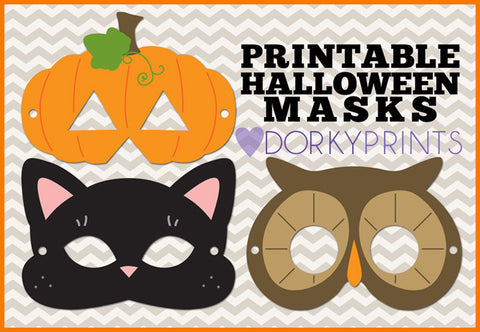 Halloween Masks Holiday Printables